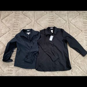 Two Chico's Black Button Downs